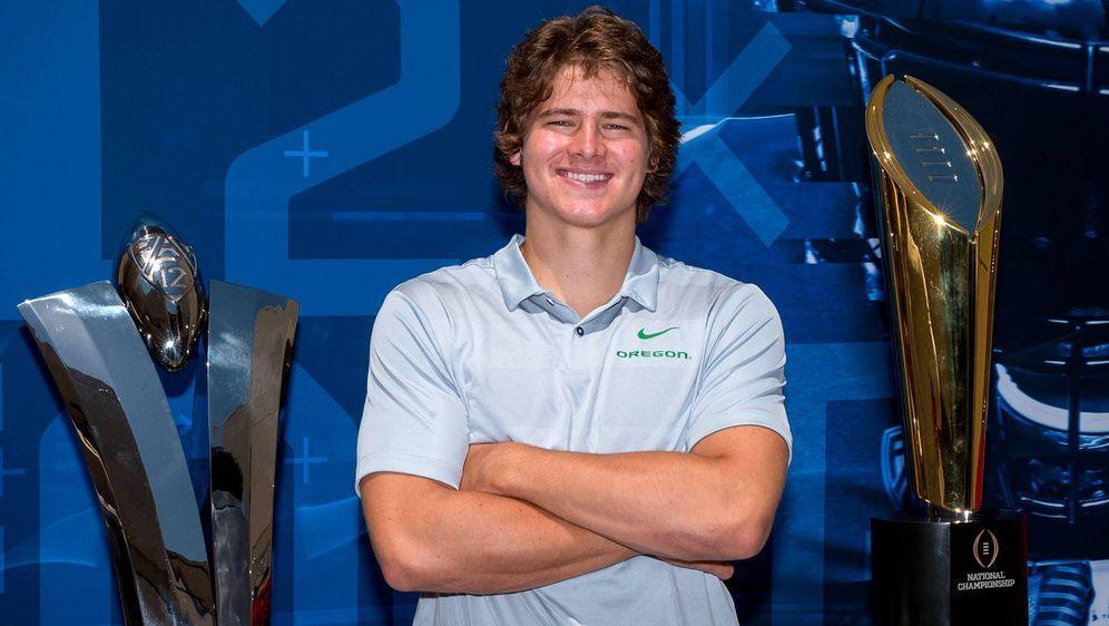 Justin Herbert gilt als der momentan wohl beste Quarterback im College-Footb... - Bildquelle: imago