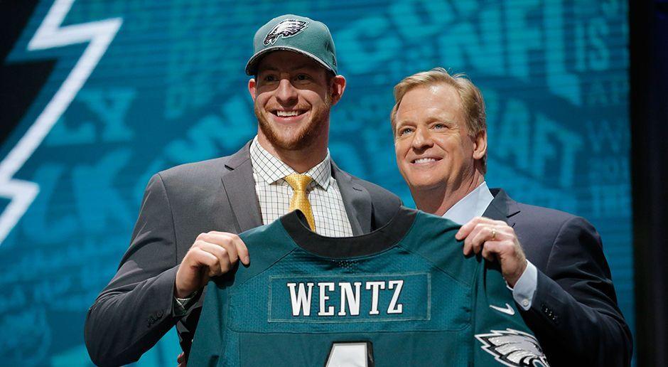 Platz 6: Carson Wentz - Quarterback (Philadelphia Eagles) - Bildquelle: 2016 Getty Images