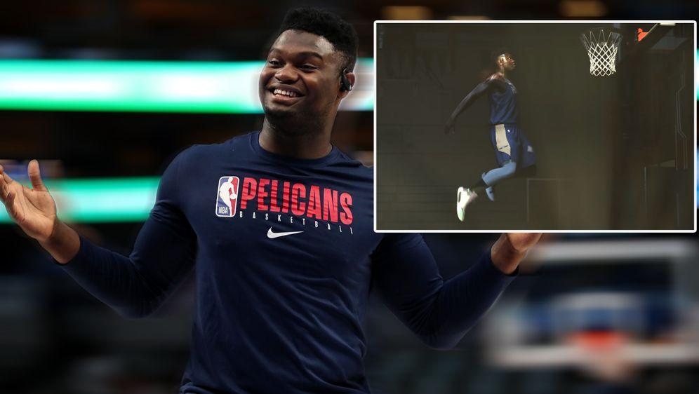 Zion Williamson ist offenbar der Cover-Star des neuen NBA-Spiels von 2K - Bildquelle: Getty/ NBA 2K