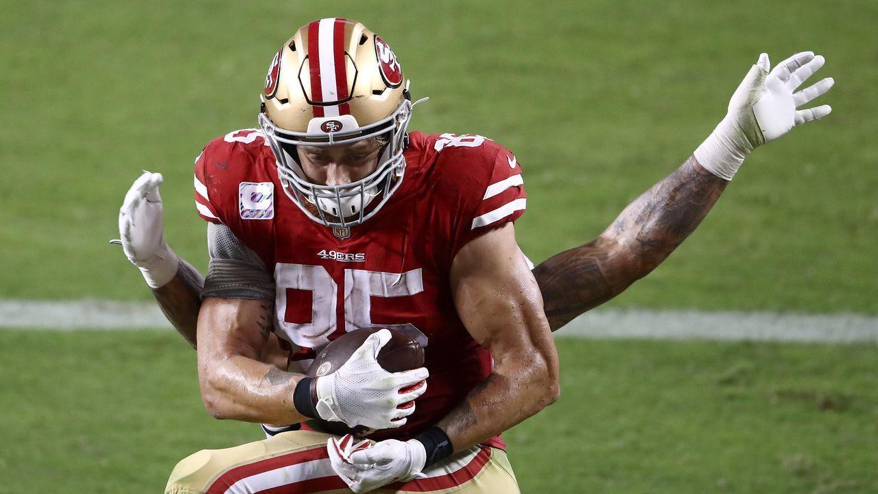 Platz 2: George Kittle (San Francisco 49ers) - Bildquelle: 2020 Getty Images