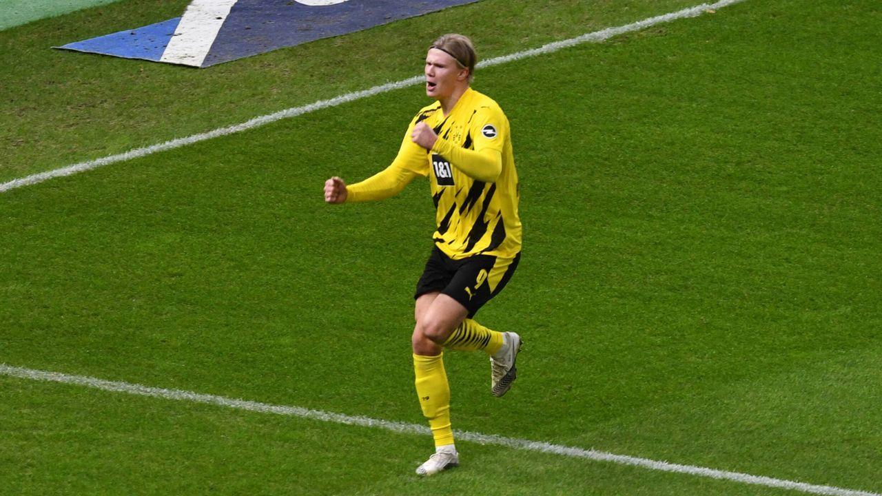 Erling Haaland gelingt als jüngster Bundesliga-Spieler ein Viererpack - Bildquelle: imago images/Matthias Koch