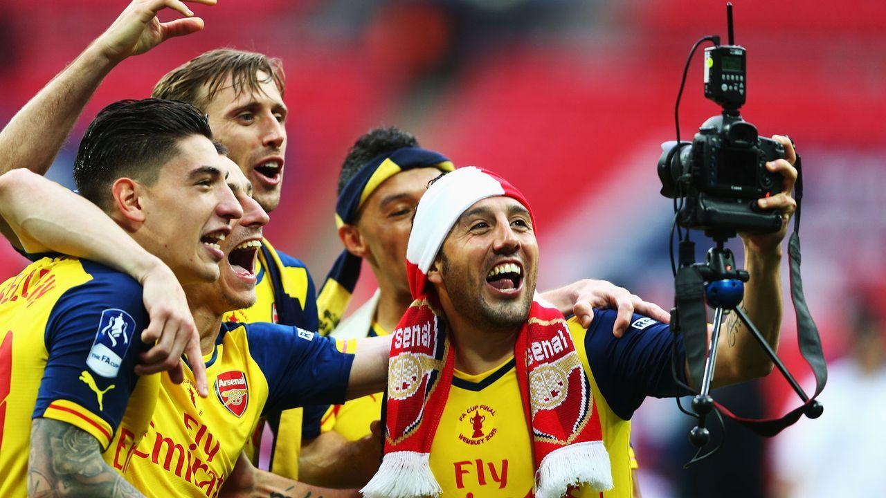 Drei FA-Cup-Siege mit dem FC Arsenal - Bildquelle: 2015 Getty Images