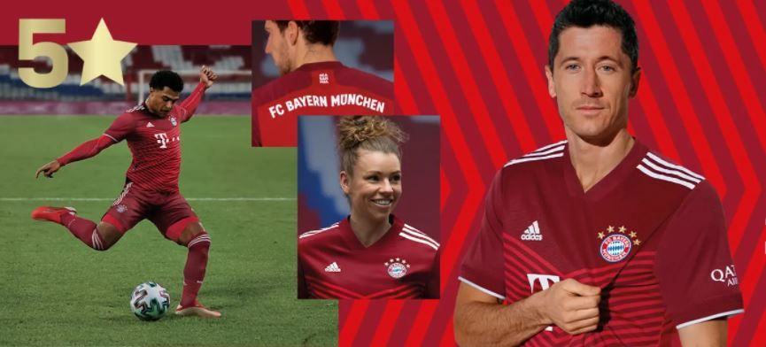 FC Bayern München: Erstmals mit fünf Sternen und roten Streifen  - Bildquelle: FC Bayern