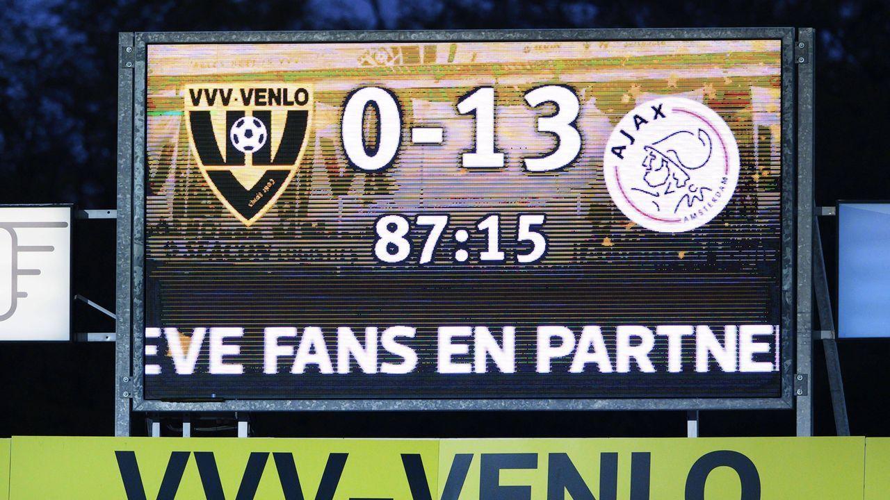 Nach 13:0-Sieg von Ajax: Das sind höchsten Siege in den europäischen Top-Ligen - Bildquelle: imago images/ANP