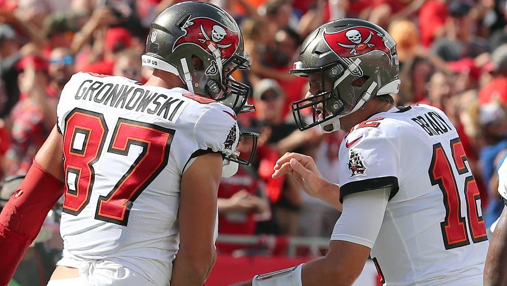 Rob Gronkowski und Tom Brady. - Bildquelle: imago images/Icon SMI