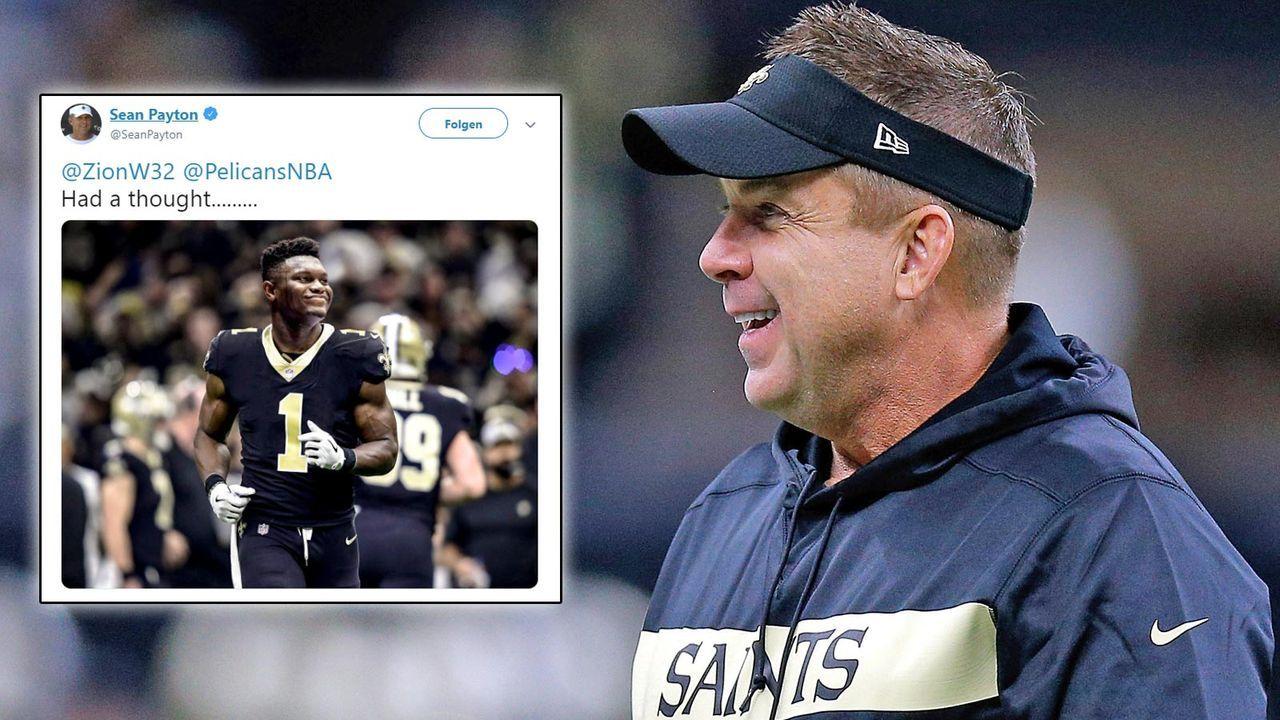 Sean Payton will Zion Williamson zum NFL-Profi machen - Bildquelle: Getty / seanpayton/twitter