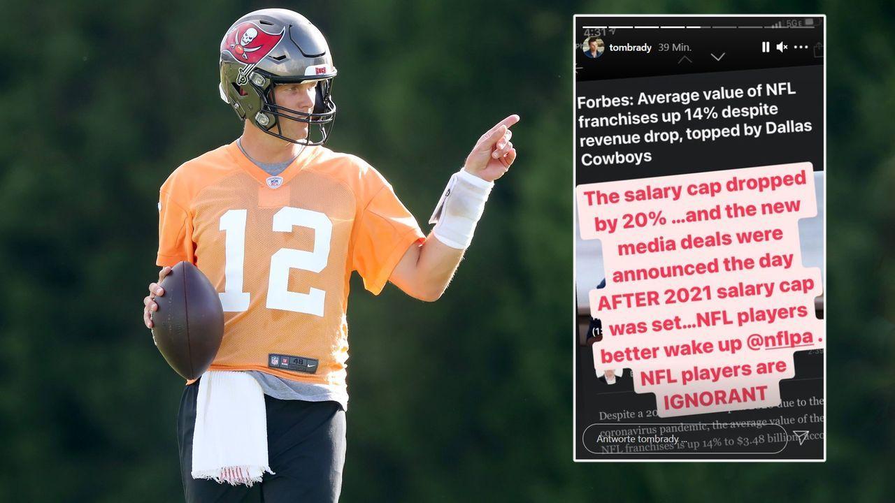 Nach Forbes-Bericht: Tom Brady ledert gegen Salary-Cap-Einschränkungen - Bildquelle: imago/instagram: @tombrady