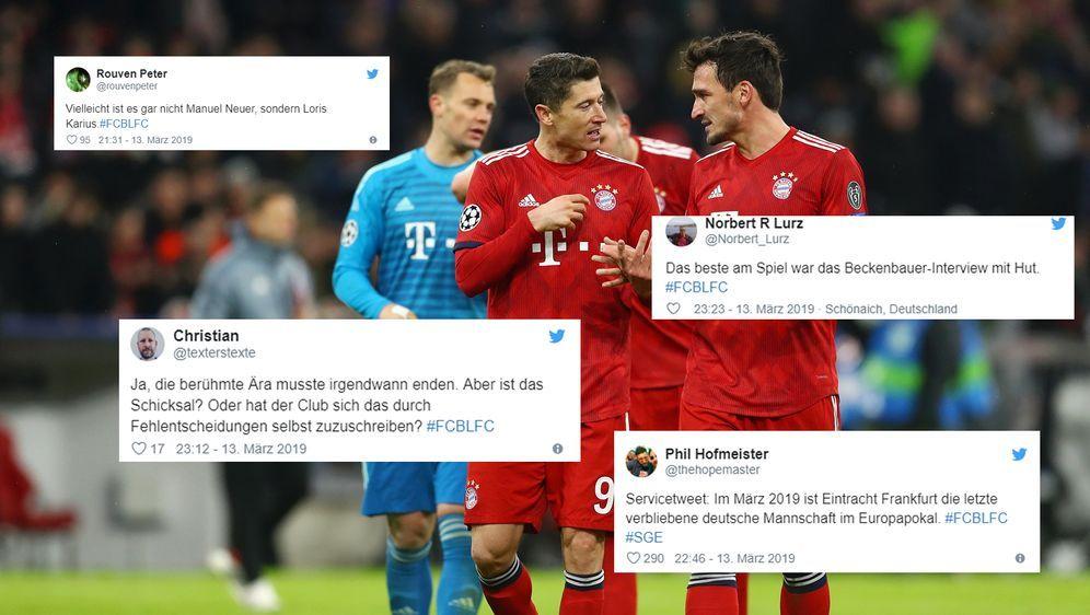 Die Netzreaktionen Zum Champions League Aus Des Fc Bayern Munchen