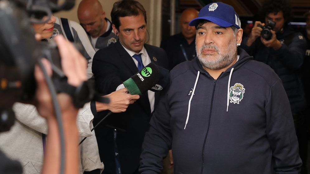 Diego Maradona arbeitet derzeit als Trainer des argentinischen Erstligisten... - Bildquelle: imago images/Agencia EFE