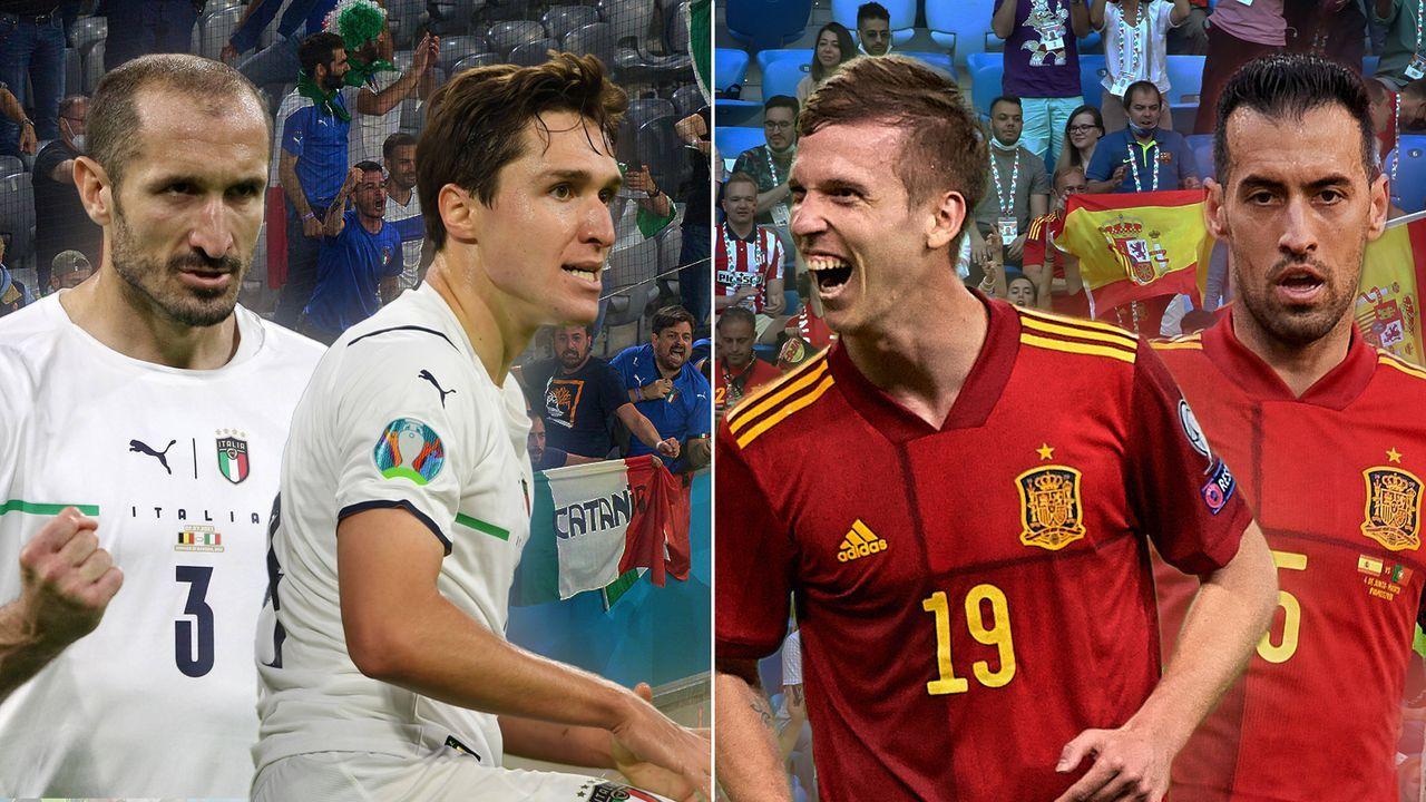 Kracher auf Augenhöhe! Italien und Spanien im Head to Head - Bildquelle: Imago Images