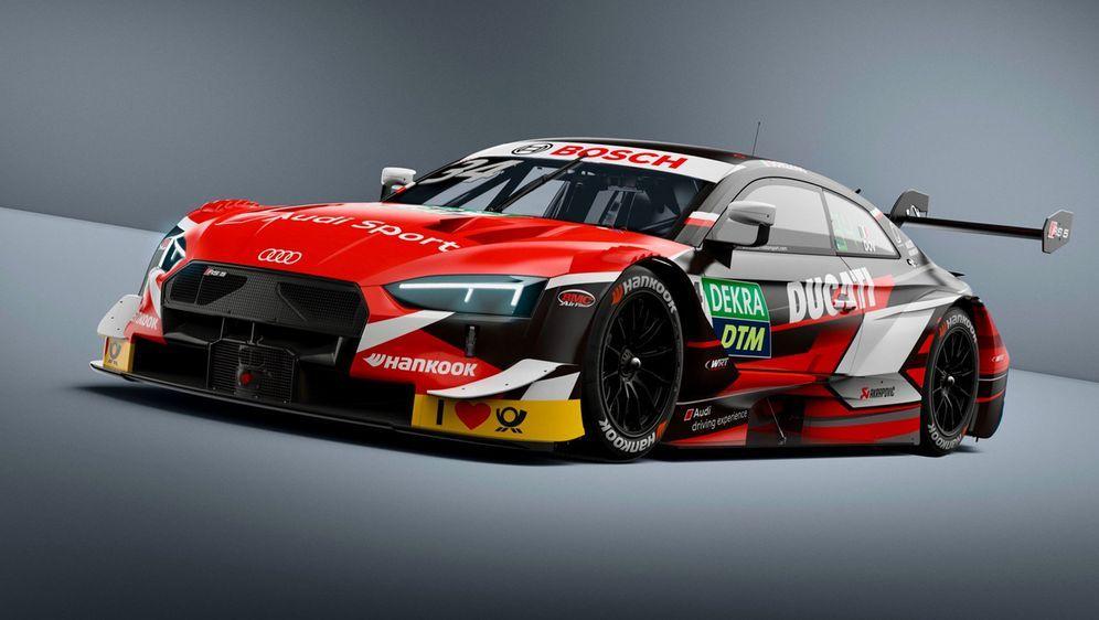DTM-Rennstall Audi veröffentlicht das Design des Boliden, mit dem Gastfahrer... - Bildquelle: Twitter/@DTM