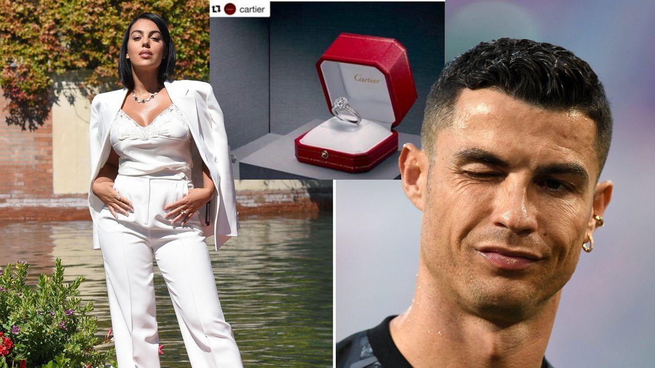Cristiano Ronaldo haut 715.000 Euro für Verlobungsring raus - Bildquelle: imago images/PA Images