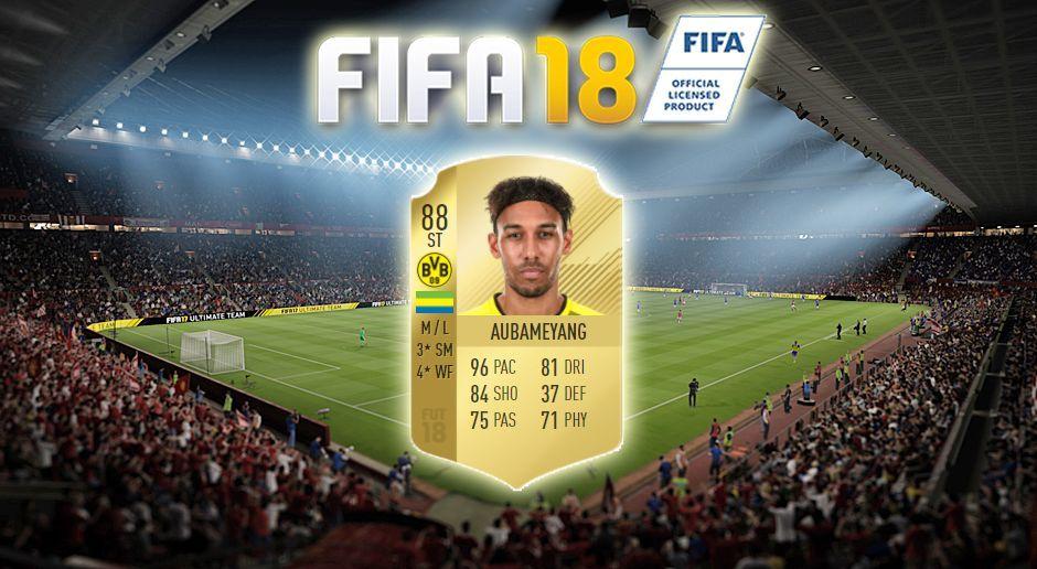 Platz 1: Pierre-Emerick Aubameyang (Borussia Dortmund) - Bildquelle: EA Sports