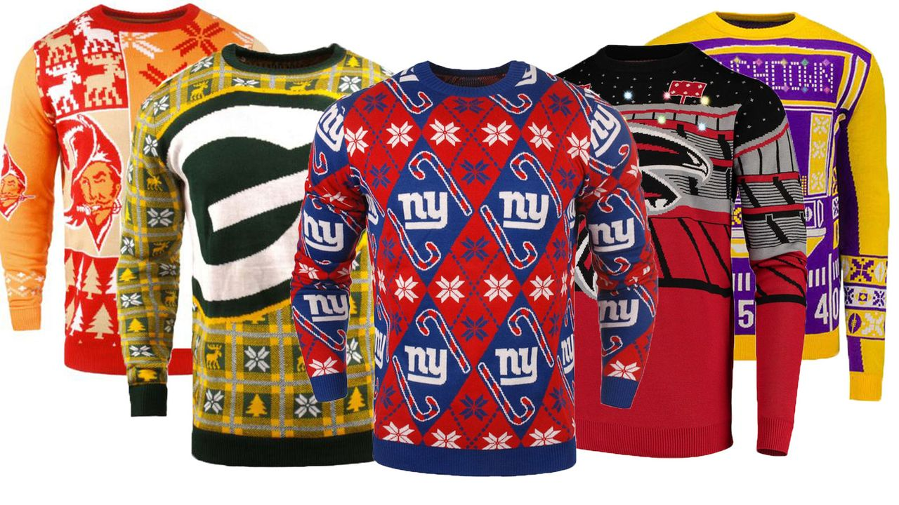 premium selection c8e79 debda Die Ugly Christmas Sweater der NFL-Teams