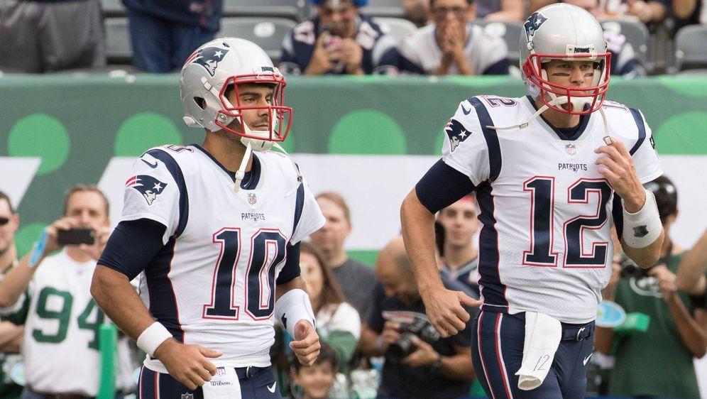 Jimmy Garoppolo und Tom Brady. - Bildquelle: imago/ZUMA Press