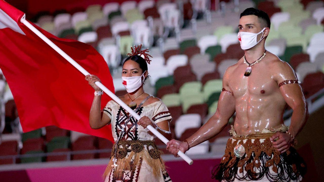 Taufatofua erneut Tongas Fahnenträger - Bildquelle: Getty