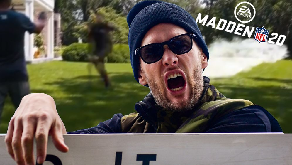 Tom Brady richtet sich mit einem scherzhaften Video an die Madden-Macher - Bildquelle: Getty/Twitter@TomBrady
