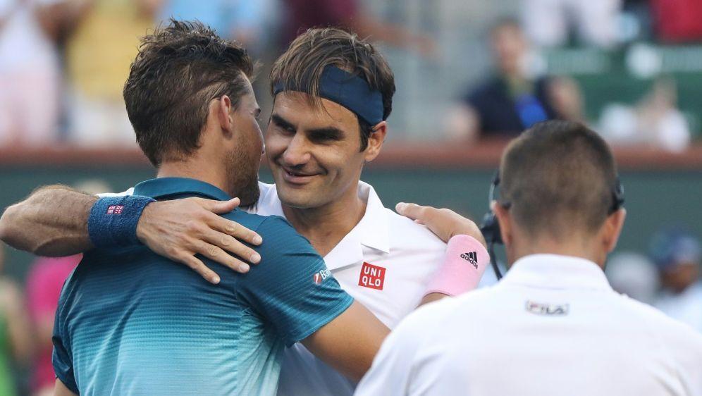 Federer musste Thiem zum Sieg gratulieren - Bildquelle: GETTY IMAGES NORTH AMERICAGETTY IMAGES NORTH AMERICASIDMATTHEW STOCKMAN