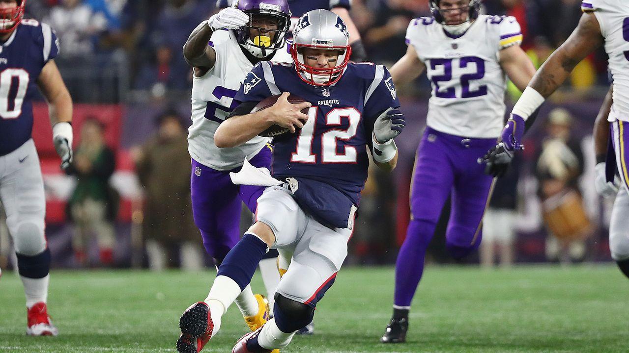Die meisten Rushing-Touchdowns eines Quarterbacks in den Playoffs - Bildquelle: 2018 Getty Images