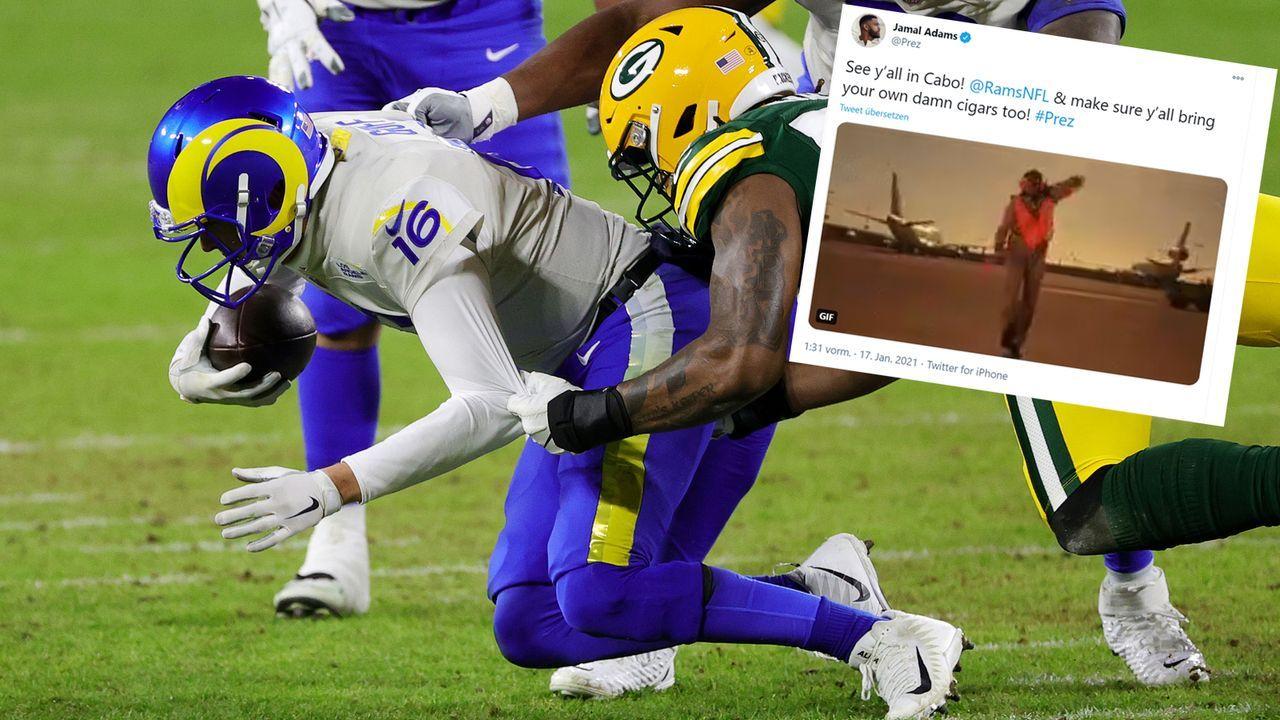 Seahawks-Safety Jamal Adams reagiert auf Rams-Aus - Bildquelle: getty/Twitter