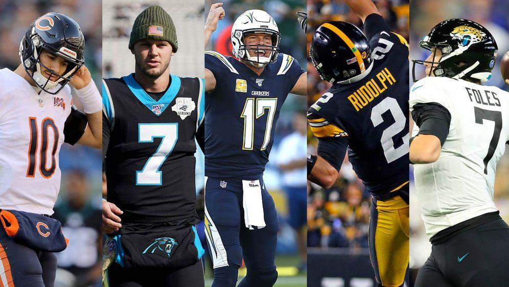 Fünf Problemfälle in der NFL (von links): Mitchell Trubisky, Kyle Allen, Phi... - Bildquelle: getty