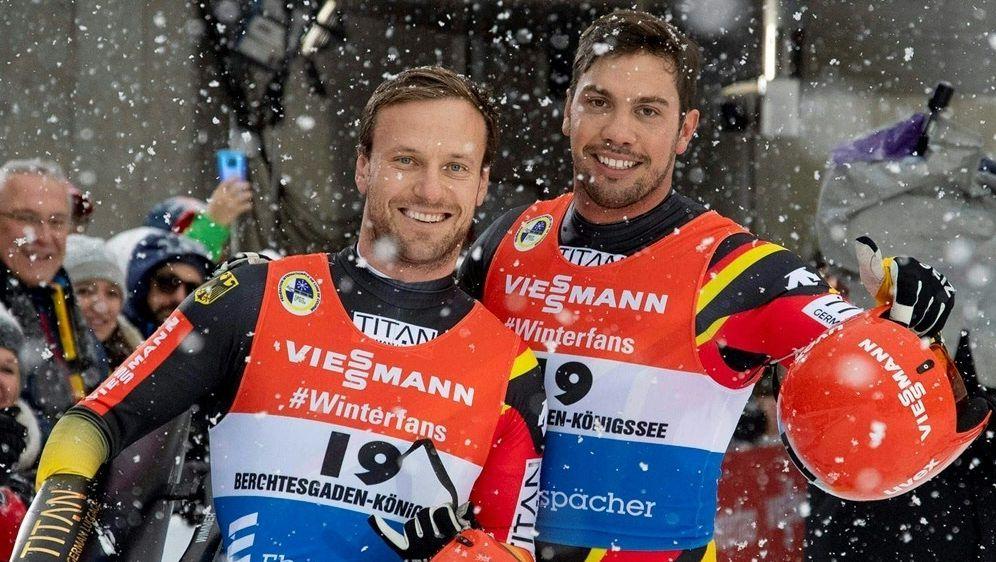 Zum dritten Mal Europameister: Wendl (r.) und Arlt - Bildquelle: PIXATHLONPIXATHLONSID