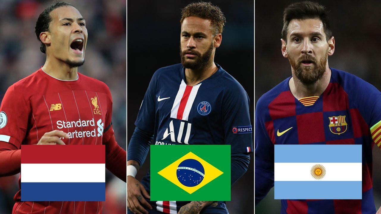 Top 10: Diese Nationen sind in Europas Ligen am häufigsten vertreten - Bildquelle: Getty Images