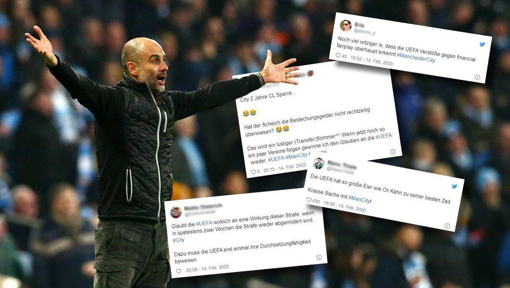 Manchester City will beim CAS Berufung gegen die Sperre einlegen. - Bildquelle: 2020 imago / Twitter