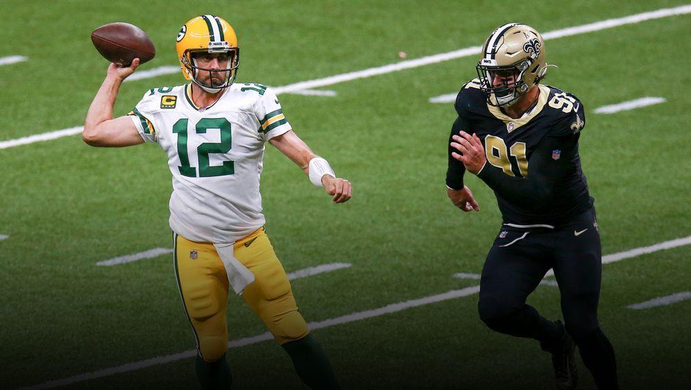 Aaaron Rodgers führt die Packers zum Sieg bei den Saints. - Bildquelle: Getty