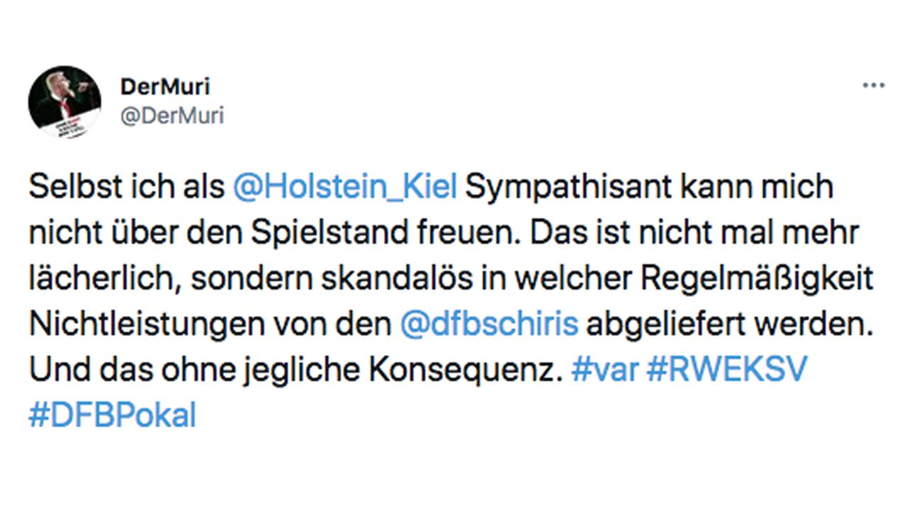 VAR-Wahnsinn im DFB-Pokal: So reagiert das Netz - Bildquelle: Twitter/@DerMuri