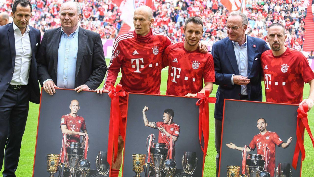 Bayern verabschiedet Robben, Rafinha und Ribery - Bildquelle: imago images / kolbert-press