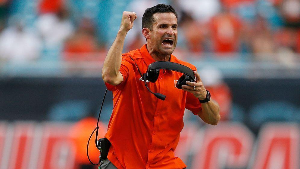 Manny Diaz drehen das Spiel gegen Virginia State. - Bildquelle: Getty Images