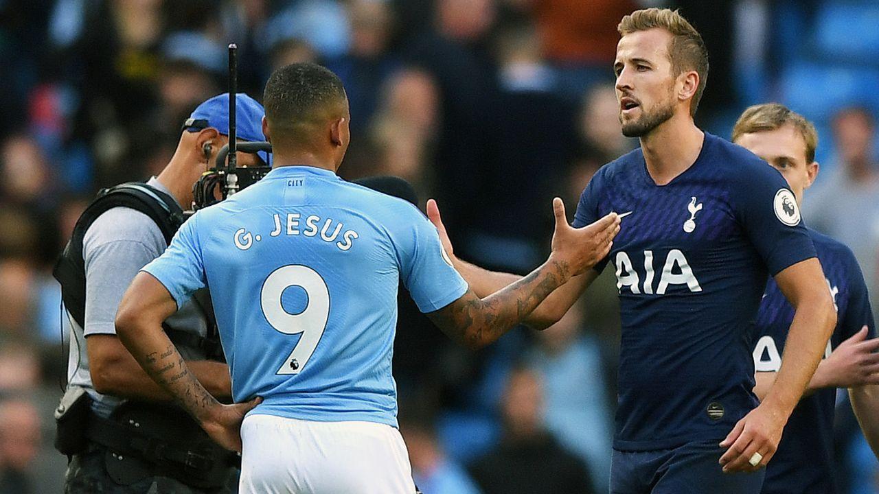 Harry Kane (Tottenham Hotspur) und Gabriel Jesus (Manchester City) - Bildquelle: 2019 Getty Images