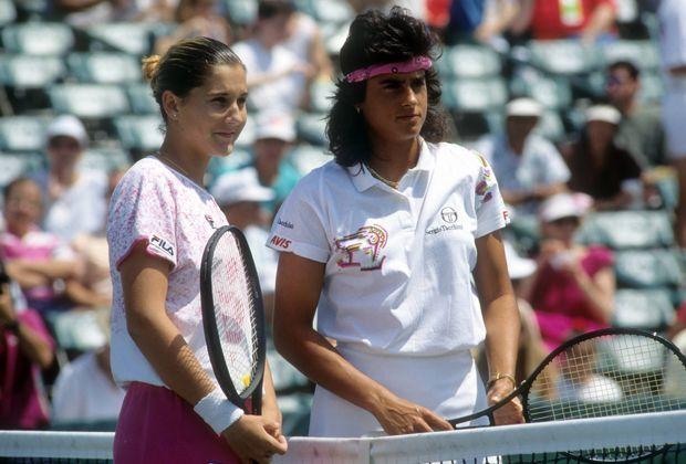Martina Seles gegen Gabriela Sabatini (1990) - Bildquelle: imago