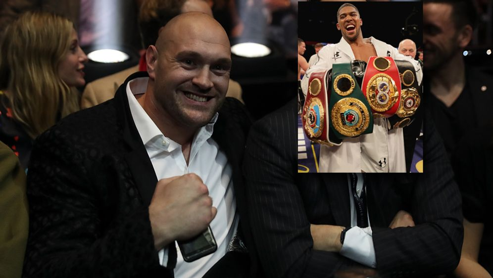 "Vorfreude auf den ""Battle of Britain"": Tyson Fury und Weltmeister Anthony Jo... - Bildquelle: Getty Images"
