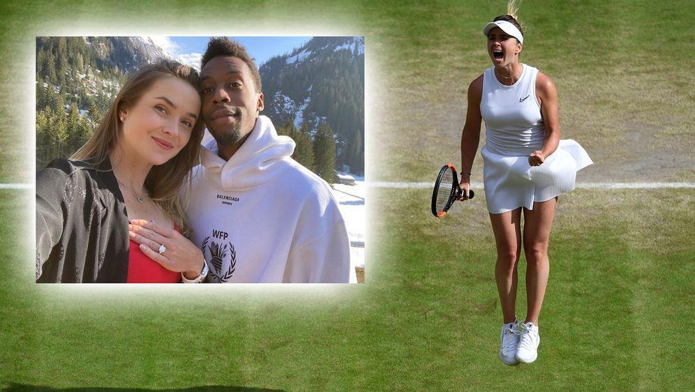 Seit 2019 sind Elina Svitolina (li.) und Gael Monfils (re.) ein Paar. - Bildquelle: Getty Images/instagram.com/elisvitolina
