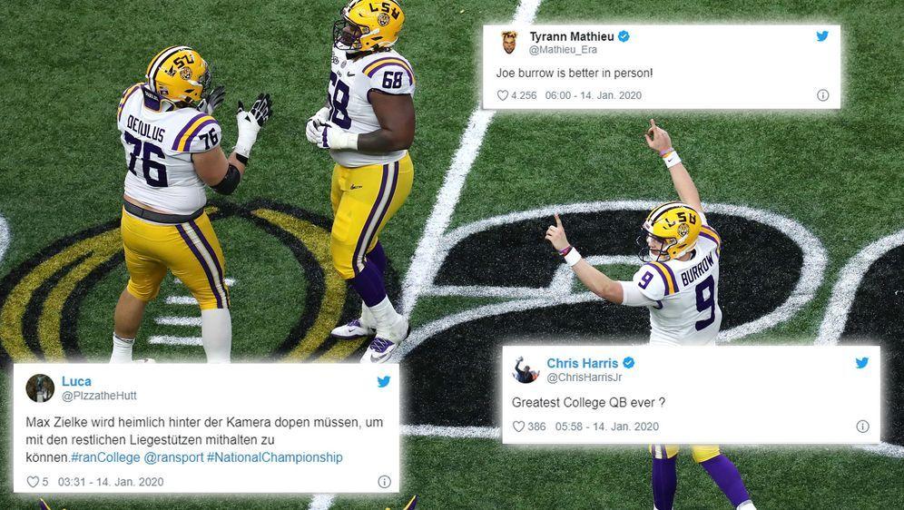 Die Netzreaktionen zum Finalsieg der LSU Tigers - Bildquelle: imago/Twitter