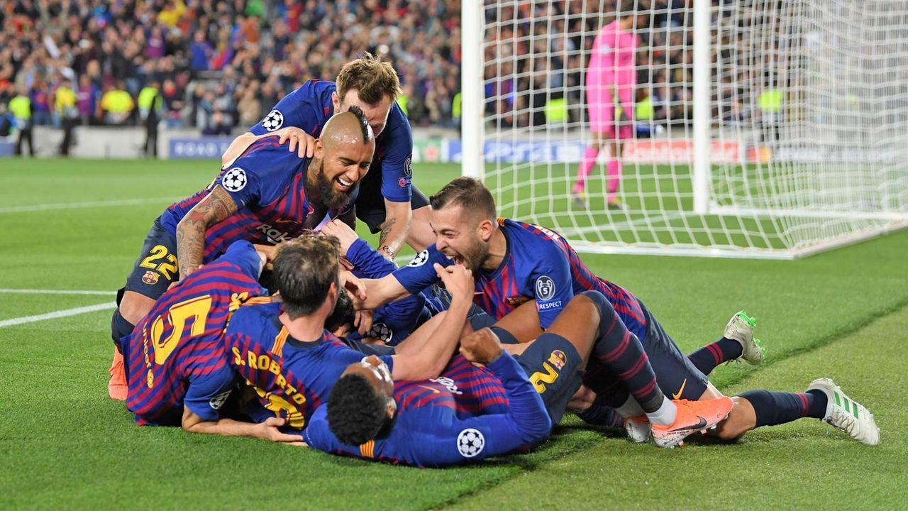 Barcelona steht mit mehr als einem Bein im Finale - Bildquelle: Getty