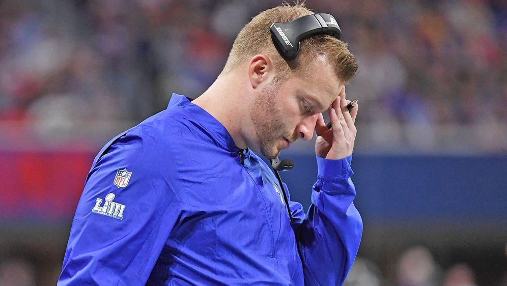 Rams-Coach Sean McVay sagt, er habe sich vorab zu intensiv auf den Super Bow... - Bildquelle: Getty