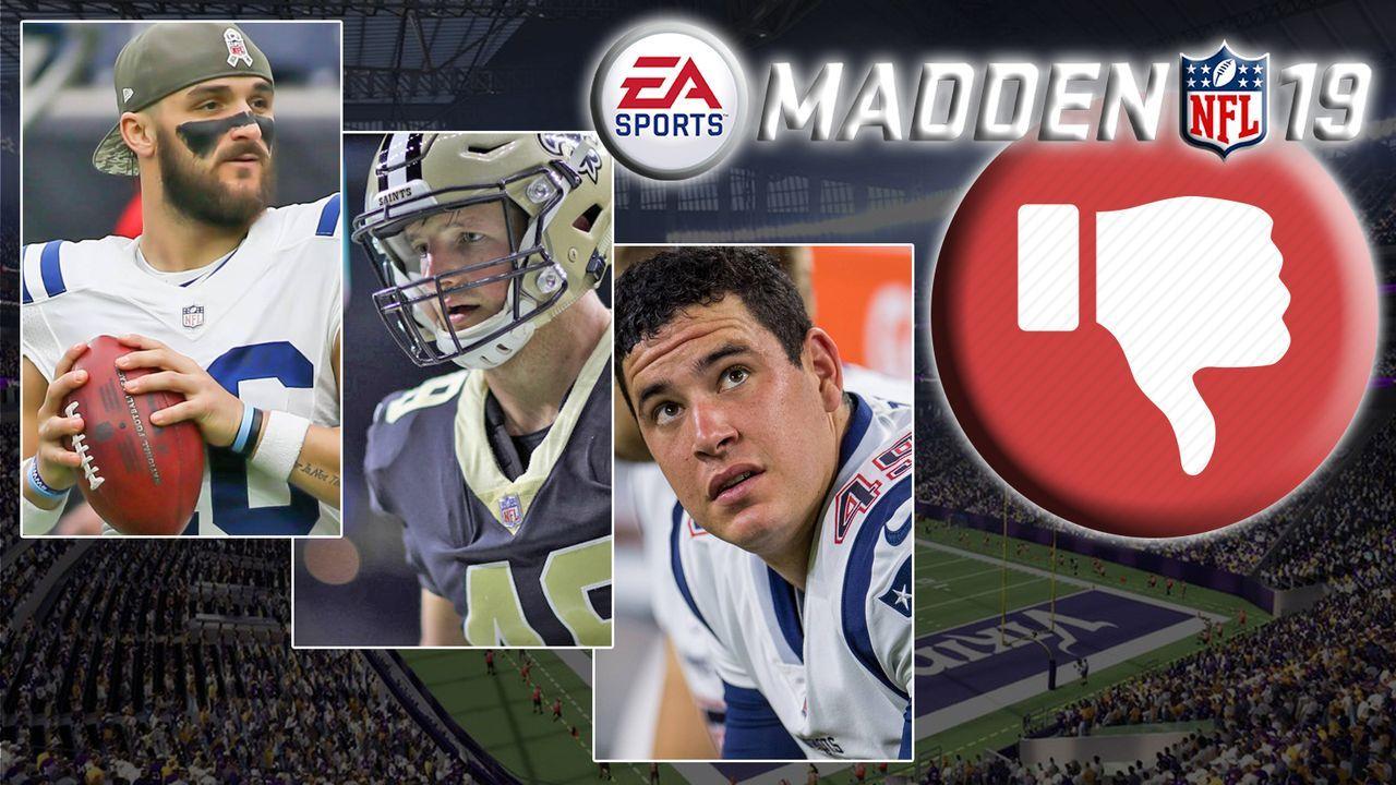 Die zehn schlechtesten Spieler in Madden NFL 19 - Bildquelle: Getty Images / imago / EA Sports