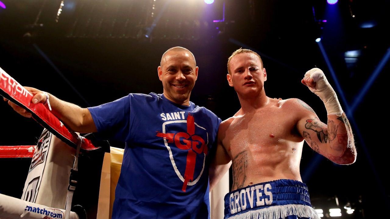 George Groves mit Ex-Coach Adam Booth - Bildquelle: Getty Images