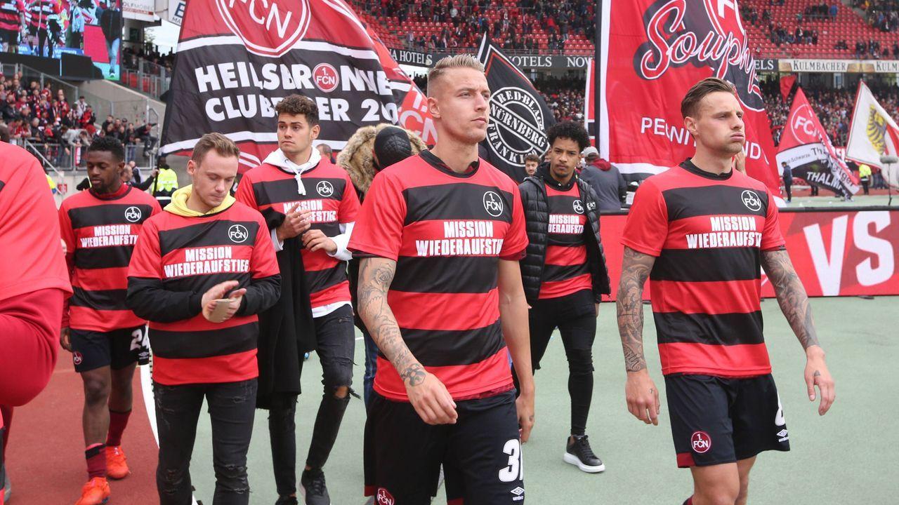 Platz 5 - 1. FC Nürnberg (2018/19, 19 Punkte, 26:68 Tore) - Bildquelle: imago images / Bernd Müller