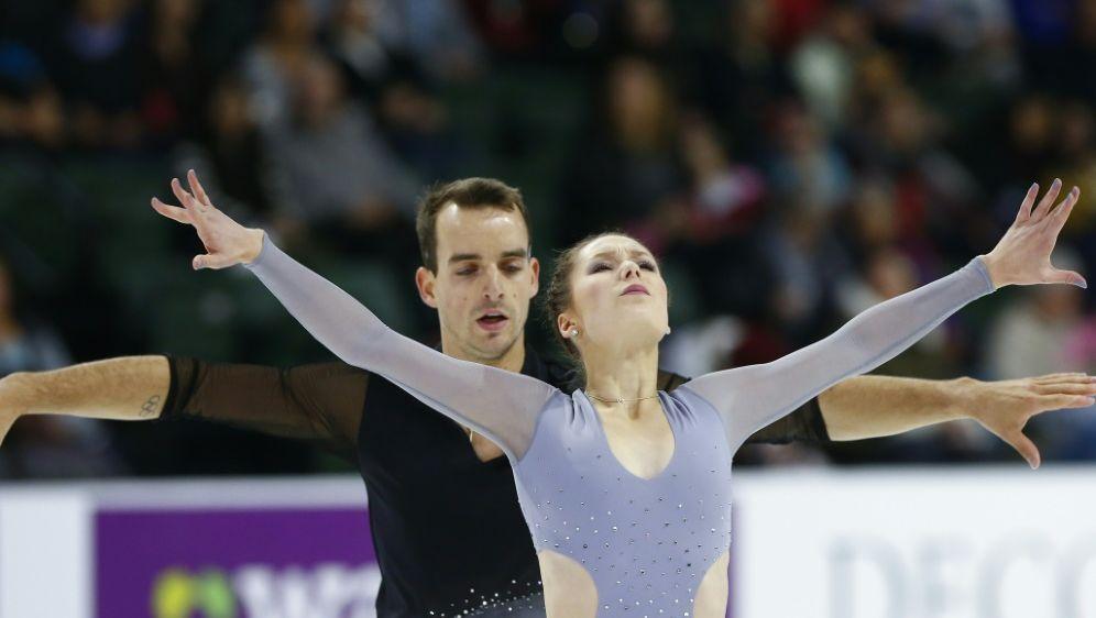 Silber für Annika Hocke und Ruben Blommaert im Paarlauf - Bildquelle: AFPGETTY SIDLindsey Wasson