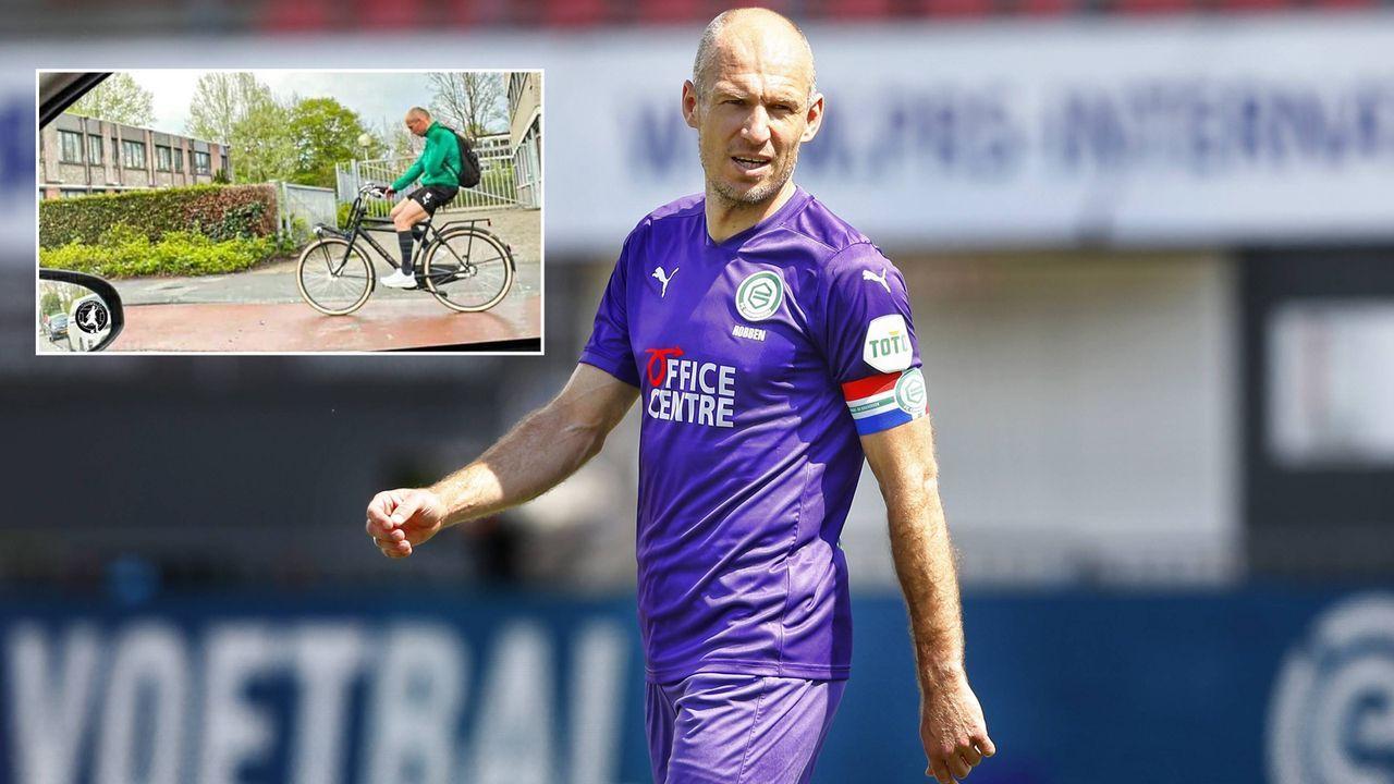 Nach Gala für Groningen: Arjen Robben radelt nach Hause - Bildquelle: imago/facebook@FussballTippsUndNews