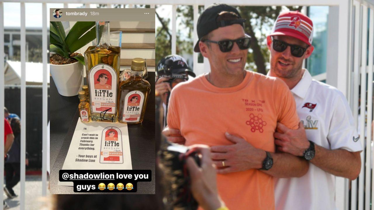 Personalisierter Tequila! Firma macht sich über Brady lustig - Bildquelle: Imago/Instagram Tom Brady