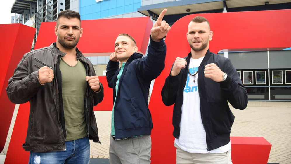 Danho, Hein und Ayari (v.l.n.r.) vertreten Deutschland bei UFC Hamburg - Bildquelle: Getty Images