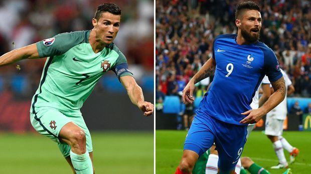 Cristiano Ronaldo vs. Olivier Giroud - Bildquelle: Getty Images