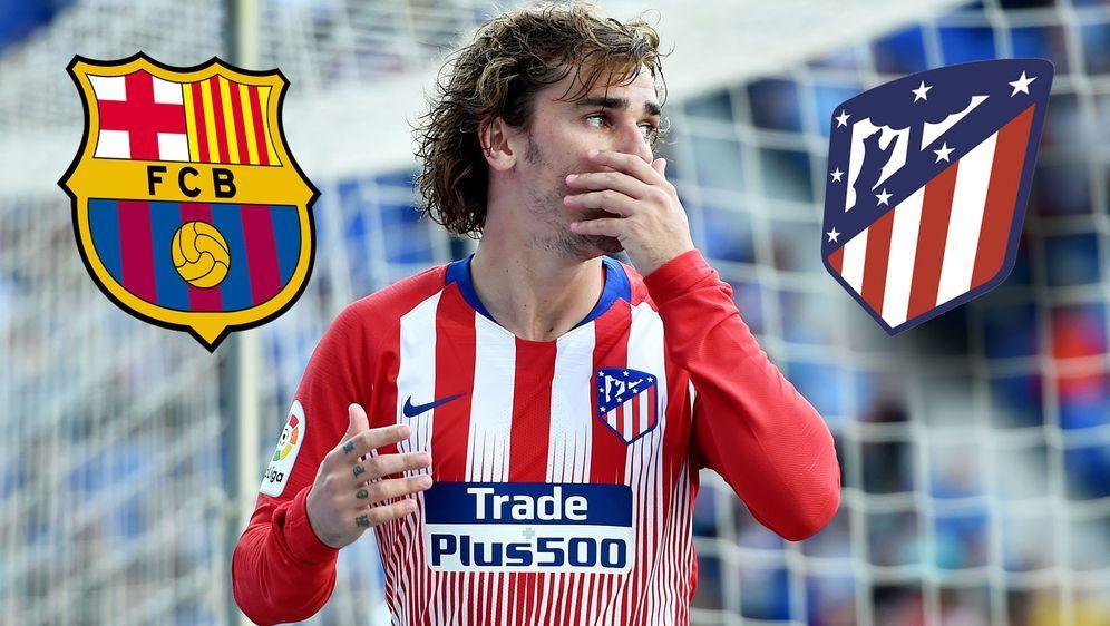 Hat er sich verzockt? Antoine Griezmann scheint seinen Klub Atletico Madrid ... - Bildquelle: Getty Images