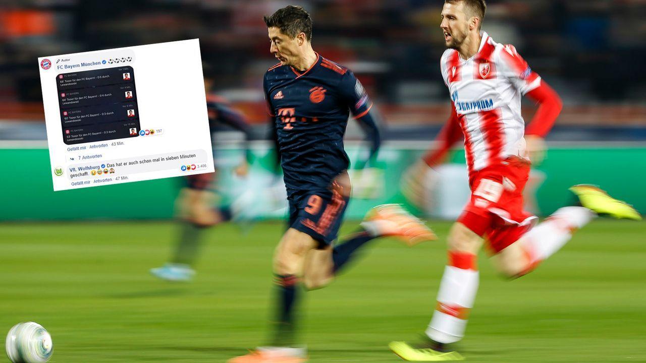 VfL Wolfsburg reagiert auf Lewandowskis Tor-Gala in Belgrad - Bildquelle: 2019 Getty Images