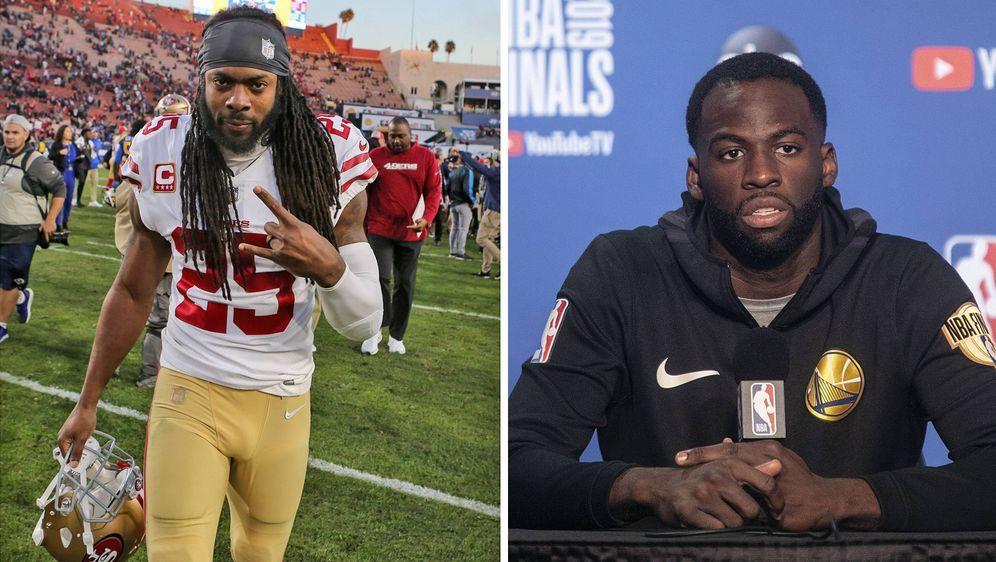 Rishard Sherman und Draymond setzen sich für College-Athleten ein. - Bildquelle: imago